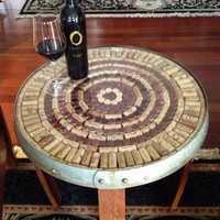 Wine Barrel Stave Accent Table Cork Kit