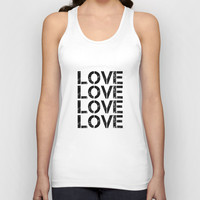 LOVE 1 Unisex Tank Top by White Print Design