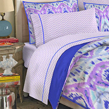 Teen Vogue Bedding, Ikat Stripe Full Sheet Set - Bedding Collections - Bed & Bath - Macy's