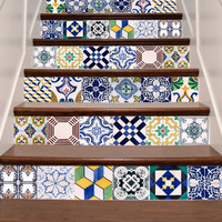 Tile Stickers - Tile Decals - Tile decals for Kitchen or Bathroom -Tile Decals for Stair - Mexico, Morocco, Portugal, Spain, Mosaic