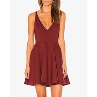 minkpink - date night mini dress - spice