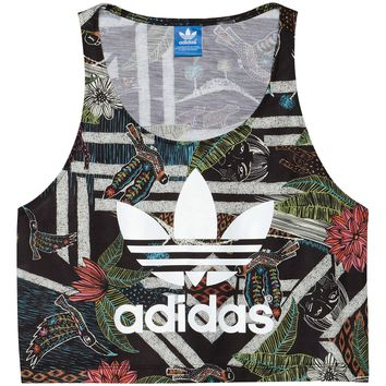 adidas Farm Xilofloresta Cropped Logo Tank Top | adidas US