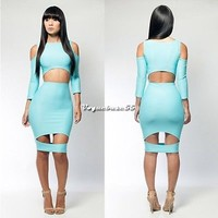 New Women Sexy Slim Clubwear Evening Party Outfit Bodycon Bandage Pencil  Dress