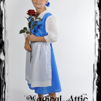 Custom Boutique Beauty and the Beast Provincial Girl Size Costume Dress for BELLE