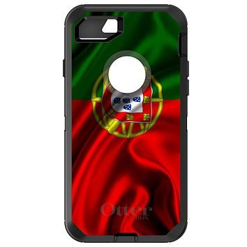 DistinctInk™ OtterBox Defender Series Case for Apple iPhone or Samsung Galaxy - Portugal Waving Flag