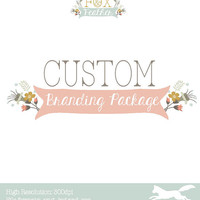 Custom Branding Package - Logo Design - Business Card - Banner and Avatar - Etsy Shop Set