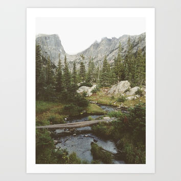 Dream Lake Creek Art Print by kevinruss