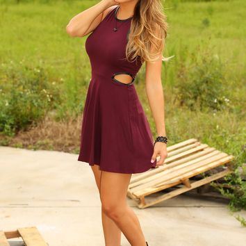Born This Way Dress: Burgundy