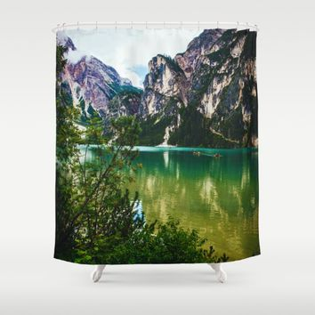 Wish You Were Here Shower Curtain by Gallery One