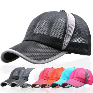 summer breathable mesh hat outdoor sports Women man Suede biker baseball Cap hats ladi