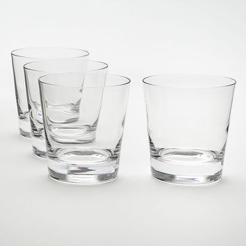 Food Network Stir 4-pc. Crystal Double Old-Fashioned Glass Set (Honey)