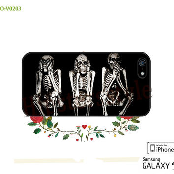Phone case iPhone 5/5S/5C Case, skull Phone 4/4S Case, S3 S4 S5 Note 2 Note 3 Case for iPhone-B0203
