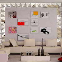 2016 new 3d mirror wall stickers acrylic sticker adesivo de parede home decor modern large decoration butterfly Floor Stickers