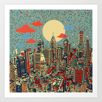 philadelphia Art Print by Bekim ART