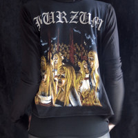 Burzum Girls Witches Drape Hoodie by HellCouture on Etsy