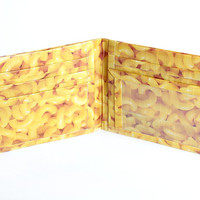 Men's Bifold Duct Tape Wallet ~ Mac n Cheese/Men Wallet/Unisex Wallet/Billfold/Credit Card Wallet/Bifold Wallet/Slim Wallet/Duct Tape Craft
