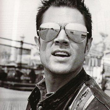 Celebrity Johnny Knoxville Jackass Mirrored Lens Metal Aviator Sunglasses 1375