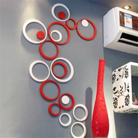 Indoors Decoration Circles Stereo Removable 3D Art Wall Stickers Wall Sticker Decal DIY poster Home decor adesivo de parede