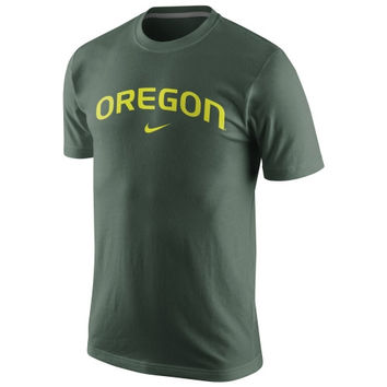 Nike Oregon Ducks College Wordmark T-Shirt - Green