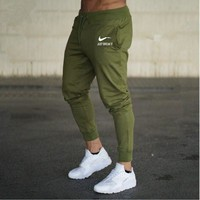AutumnThe New Fashion Joggers Sweatpants Men print Just Slim Cuff Track Pants Tracksuit Trousers Men's Cotton Pencil Trousers