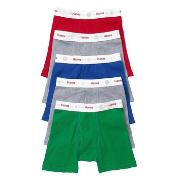 Hanes Toddler Boys' Boxer Briefs with Comfort Flex Waistband 5 Pack