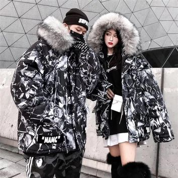 MAMC 2018 autumn and winter new men and women sweater  trend couple models print