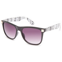 Full Tilt Tribal Beat Sunglasses Black/White One Size For Women 23131712501