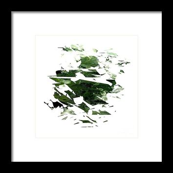Abstract Acrylic Painting Broken Glass The Forest Framed Print