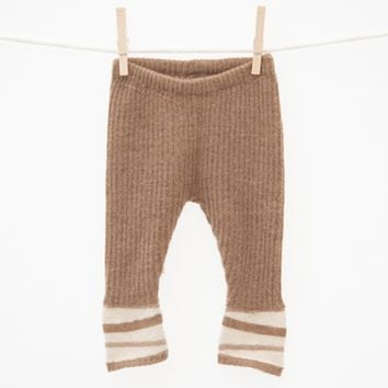 Alpaca Wool Pants - Caramel