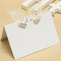 Brand New 20pcs Butterfly Laser Cut Place Hollow Out Name Table Card Baby Shower Wedding Favors Birthday Party Decoration