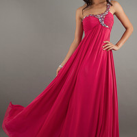 Floor Length One Shoulder Jasz Dress