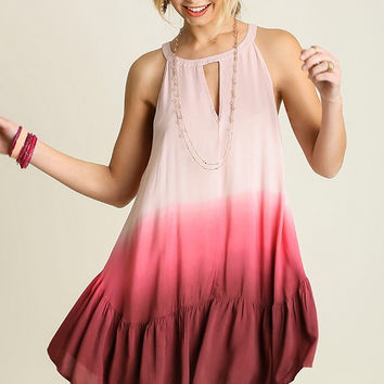 Keep My Heart Singing Dip Dye Dress