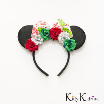Christmas Mouse Ears Headband, LED Headband, Minnie Mouse Ears, Minnie Ears, Disney Bound, Disney Headband, Disney Cosplay, Disneyland
