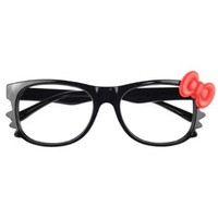 S9D New Brand Hello Kitty Lovely Fashion Black Bow Style Glasses Frame Cosplay:Amazon:Everything Else