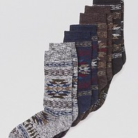 HUE Tribal Boot Socks