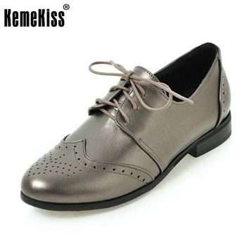 KemeKiss Size 30-50 Ladies Flats Shoes Women Cross Strap Round Toe Flat Shoes Daily W