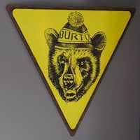 Burton Bear Right Road Sign