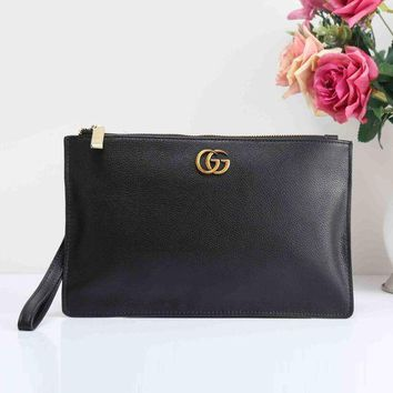 GUCCI Fashion Women Men Metal Letter Briefcase Hand Bag Envelope Bag I-XS-PJ-BB