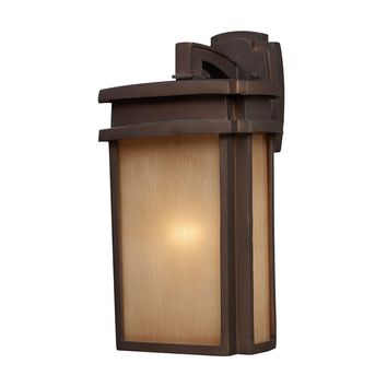 42141/1 Sedona 1 Light Outdoor Wall Sconce In Clay Bronze - Free Shipping!