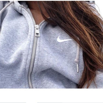 Stylish Casual Long Sleeve NIKE Tops Hats With Pocket Hoodies
