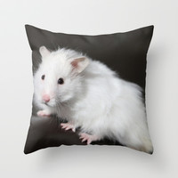 Teddy Bear Hamster Throw Pillow by Sean Foreman