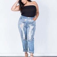 Plus Size Sparkly Sequin Jeans