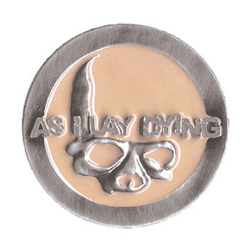 As I Lay Dying Men's Deathbat Belt Buckle Silver