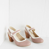 Chelsea Crew Pastel Be Bright There! Heel in Dusty Rose