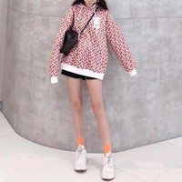 """Burberry"" Women Retro Personality B Letter Print Long Sleeve Sweater Hoodie Tops"