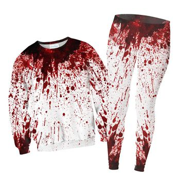 Blood Splatter Combo Sweater and Leggings