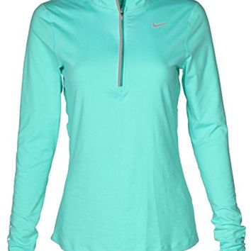 Nike Women's Dry Fit Element Half Zip Running Top (Igloo, Large)