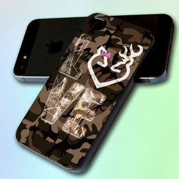 Love Browning Deer Camo by GreatCover Print Design for iPhone 4/4s iPhone 5 Samsung S3 i9300 Samsung S4 i9500
