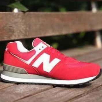 New Balance Couple Fashion Stylish High Quality Sports Shoes Running Shoes rose red