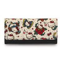 Hello Kitty Tattoo Canvas Wallet - Wallets